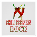 Chili Peppers Rock Poster