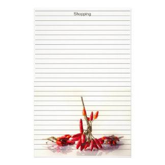 Chili Peppers Stationery
