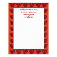 Chili Peppers Stationery or Letterhead