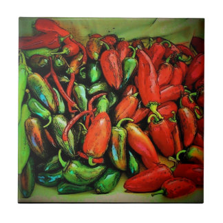 Chili Peppers Tile