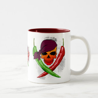Chili Pirate $18.95 Two Toned Coffee Mug
