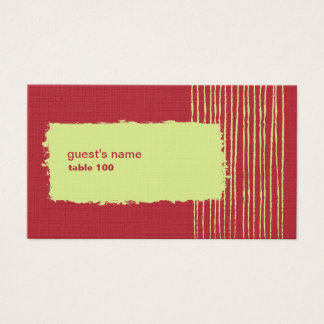 Chili Place Card
