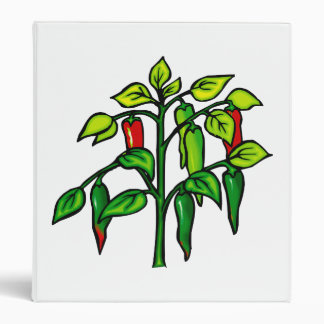 Chili Plant Many Peppers Graphic Binder