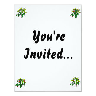 Chili Plant Many Peppers Graphic 4.25x5.5 Paper Invitation Card