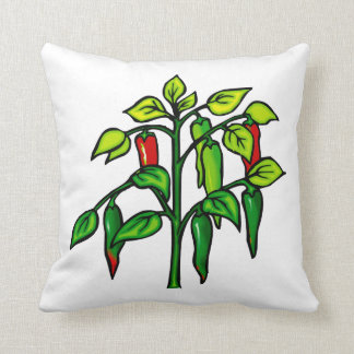 Chili Plant Many Peppers Graphic Pillow