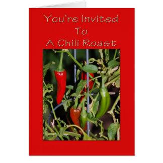 Chili Roasting Party Invite Card