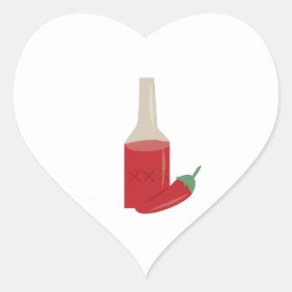 Chili Sauce Heart Sticker