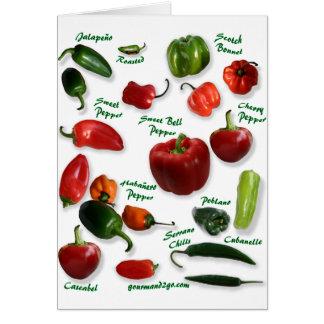 Chili Varieties Card