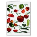 Chili Varieties Greeting Card