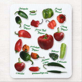 Chili Varieties Mouse Pad