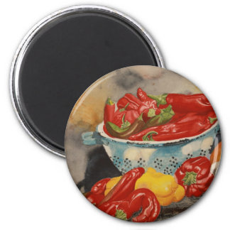 Chilies! 2 Inch Round Magnet