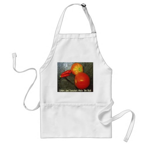 Chilies And Tomatoes Make The Dish apron