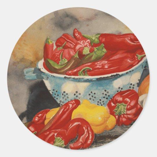 Chilies! Classic Round Sticker