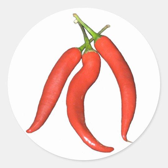 Chilies hot classic round sticker