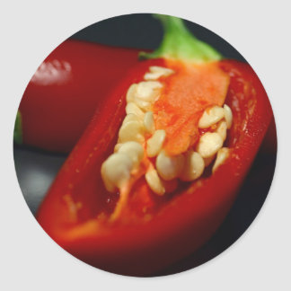 chilies-seeds,still-life classic round sticker