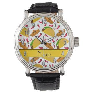 Chilis blancos conocidos personalizados de los relojes de pulsera