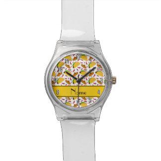 Chilis blancos conocidos personalizados de los relojes