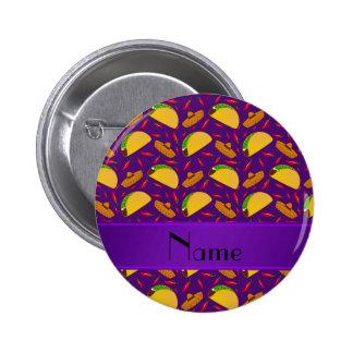 Chilis púrpuras conocidos personalizados de los pin redondo de 2 pulgadas