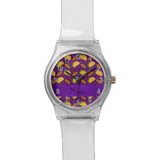 Chilis púrpuras conocidos personalizados de los relojes