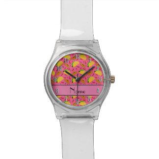 Chilis rosados conocidos personalizados de los reloj de mano