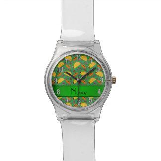 Chilis verdes conocidos personalizados de los relojes de mano