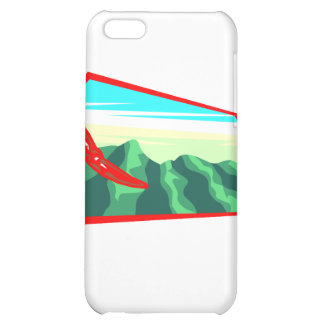 Chilis with moutain range behind iPhone 5C cover