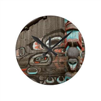 Chilkat Tribal House Round Clock