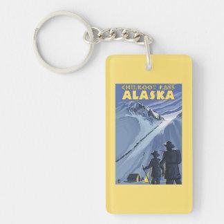 Chilkoot Pass, Alaska Gold Miners Double-Sided Rectangular Acrylic Keychain