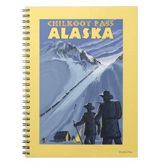 Chilkoot Pass, Alaska Gold Miners Spiral Notebook