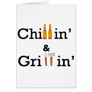 chill and grill greeting cards