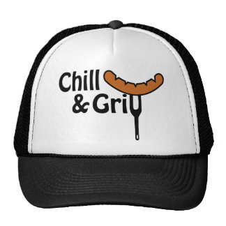 Chill and grill trucker hat