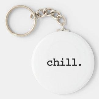 chill. basic round button keychain