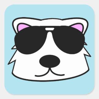 Chill Bear Square Sticker
