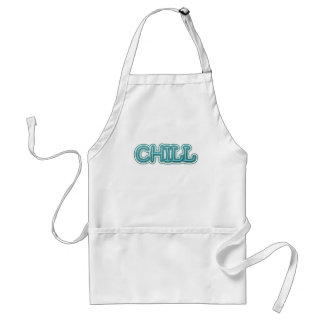 Chill Blue Icy Letters Aprons