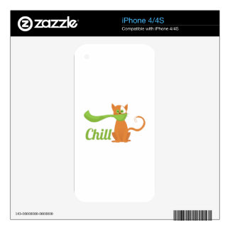 Chill Cat iPhone 4S Skins