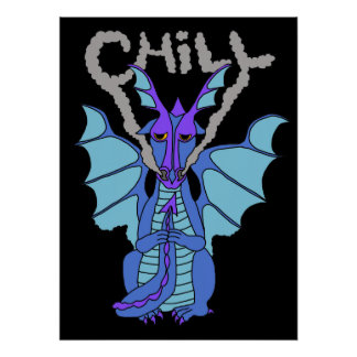 chill dragon poster