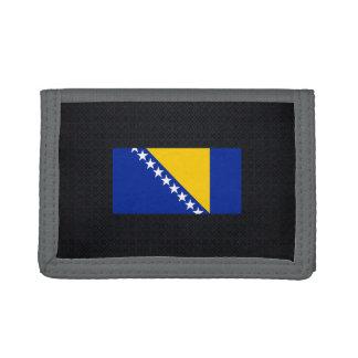 Chill Flag of Bosnia Herzegovina Trifold Wallet