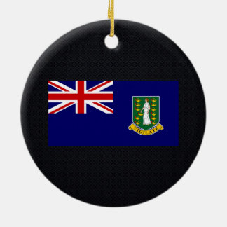Chill Flag of British Virgin Islands Double-Sided Ceramic Round Christmas Ornament
