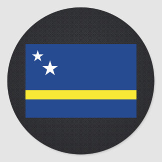Chill Flag of Curacao Classic Round Sticker