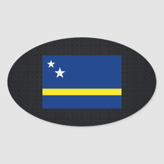 Chill Flag of Curacao Oval Sticker