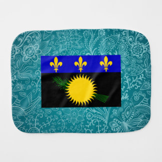 Chill Flag of Guadeloupe Baby Burp Cloths
