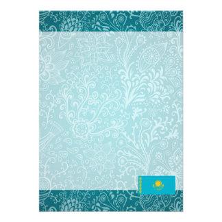 "Chill Flag of Kazakhstan 5"" X 7"" Invitation Card"