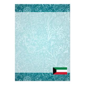 "Chill Flag of Kuwait 5"" X 7"" Invitation Card"