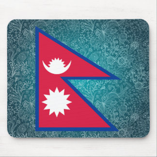 Chill Flag of Nepal Mouse Pad