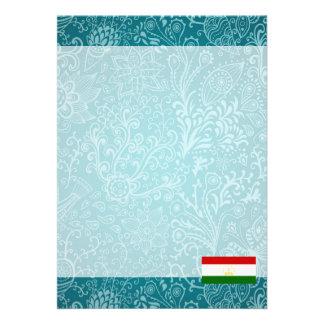 """Chill Flag of Tajikistan 5"""" X 7"""" Invitation Card"""