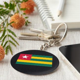 Chill Flag of Togo Basic Round Button Keychain