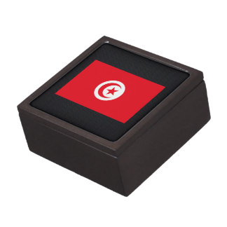 Chill Flag of Tunisia Premium Trinket Boxes