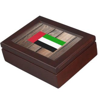 Chill Flag of United Arab Emirates Keepsake Boxes