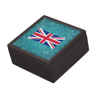 Chill Flag of United Kingdom Premium Trinket Box