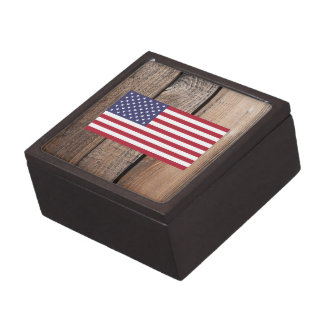 Chill Flag of United States Premium Keepsake Boxes